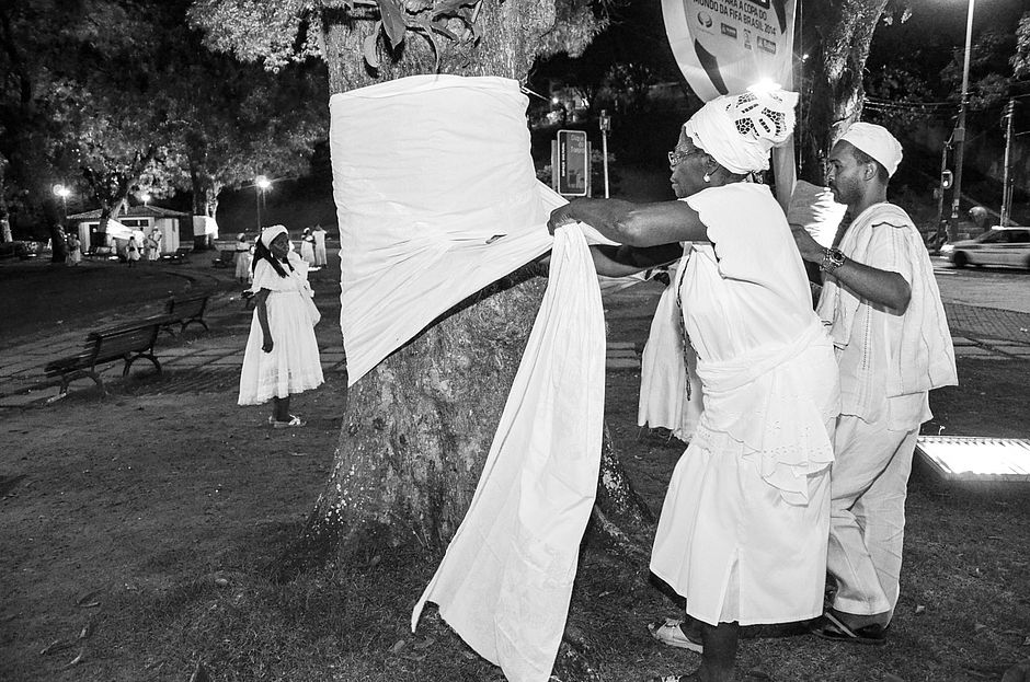 Árvores serão amarradas com tecidos em ato contra violência em terreiros