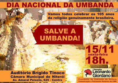 Convite Dia Nacional da Umbanda
