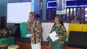 Pai Renato d´Obaluaiyè e Mãe Miriam de Oyá deram o tom da cerimônia. Foto: Sérgio D´Giyan