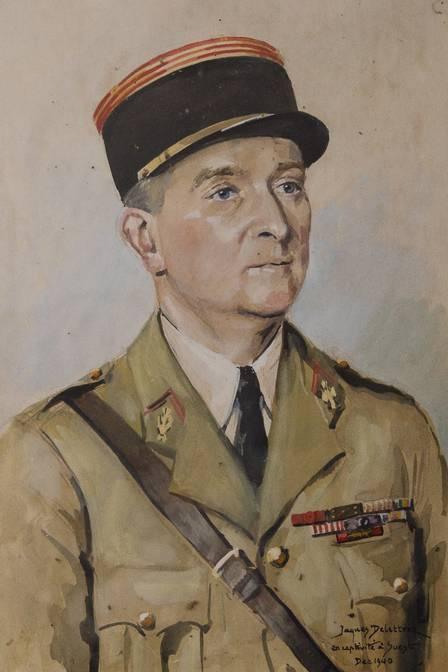 O pai de Gisele Cossard durante a Segunda Guerra Mundial Foto: Reprodução Extra