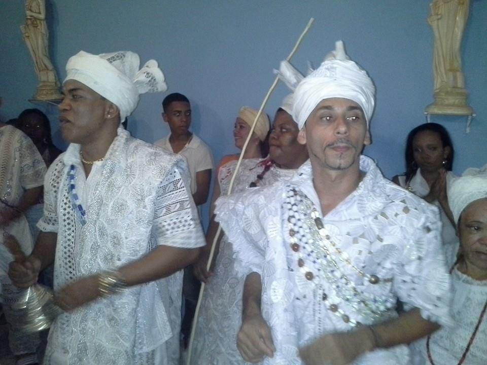 Pai Marcos Vinicius T´Omulu e Pai Paulinho d´Osogiyan