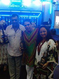 Da esq. para a dir.: Sérgio D´Giyan, do Awùre; Pai Jorge de Ogunjá e sua esposa Ignez de Iansã, Superintendente de Promoção da Igualdade Racial de Nilópolis Foto: Yango t´Obaluayé