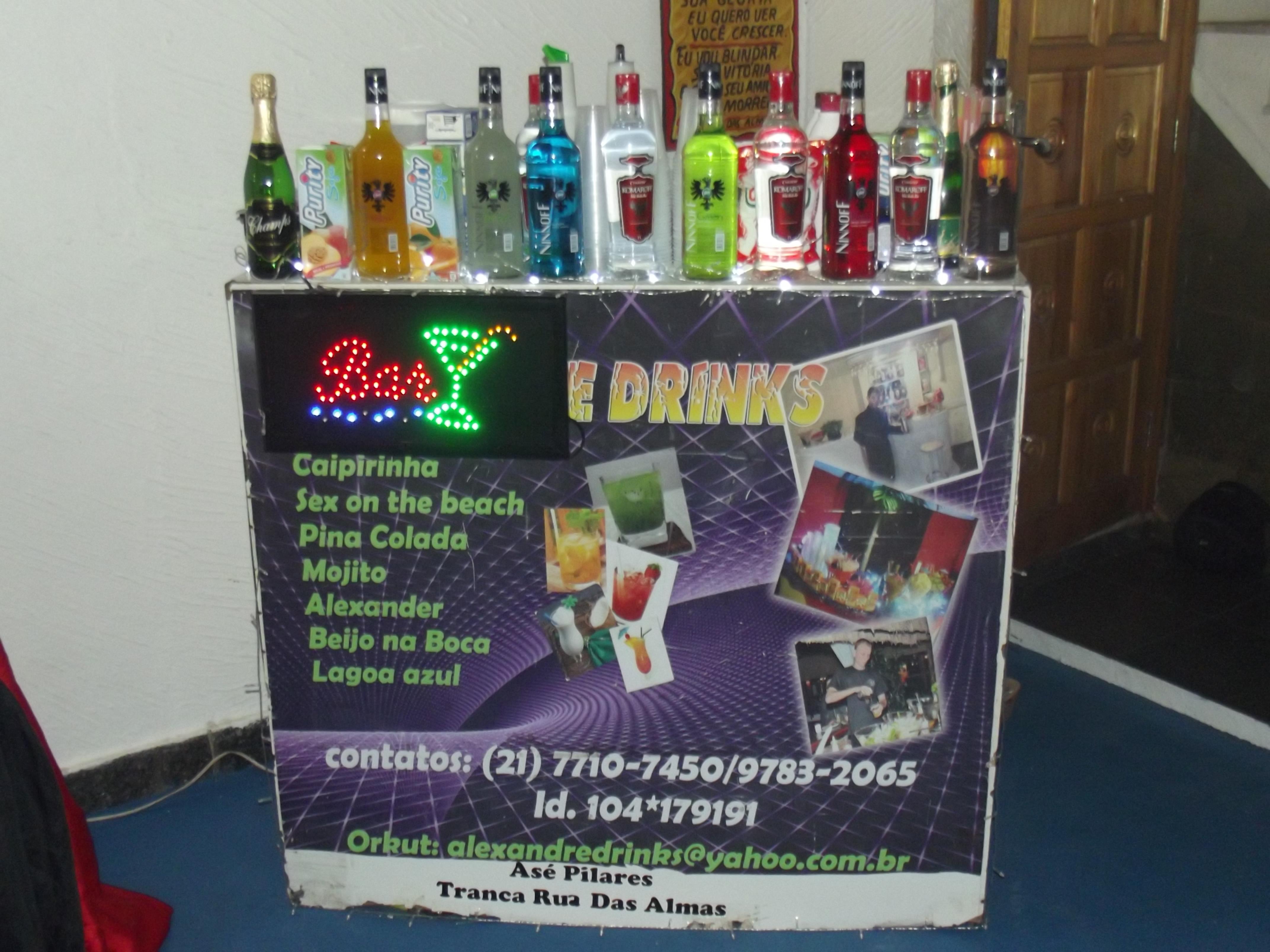 Bar montado no salão Foto: Sérgio D´Giyan