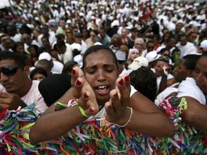 Lavagem do Bonfim em Salvador (Foto: Raul Spinassé/Agência A Tarde/ Estadão Conteúdo)