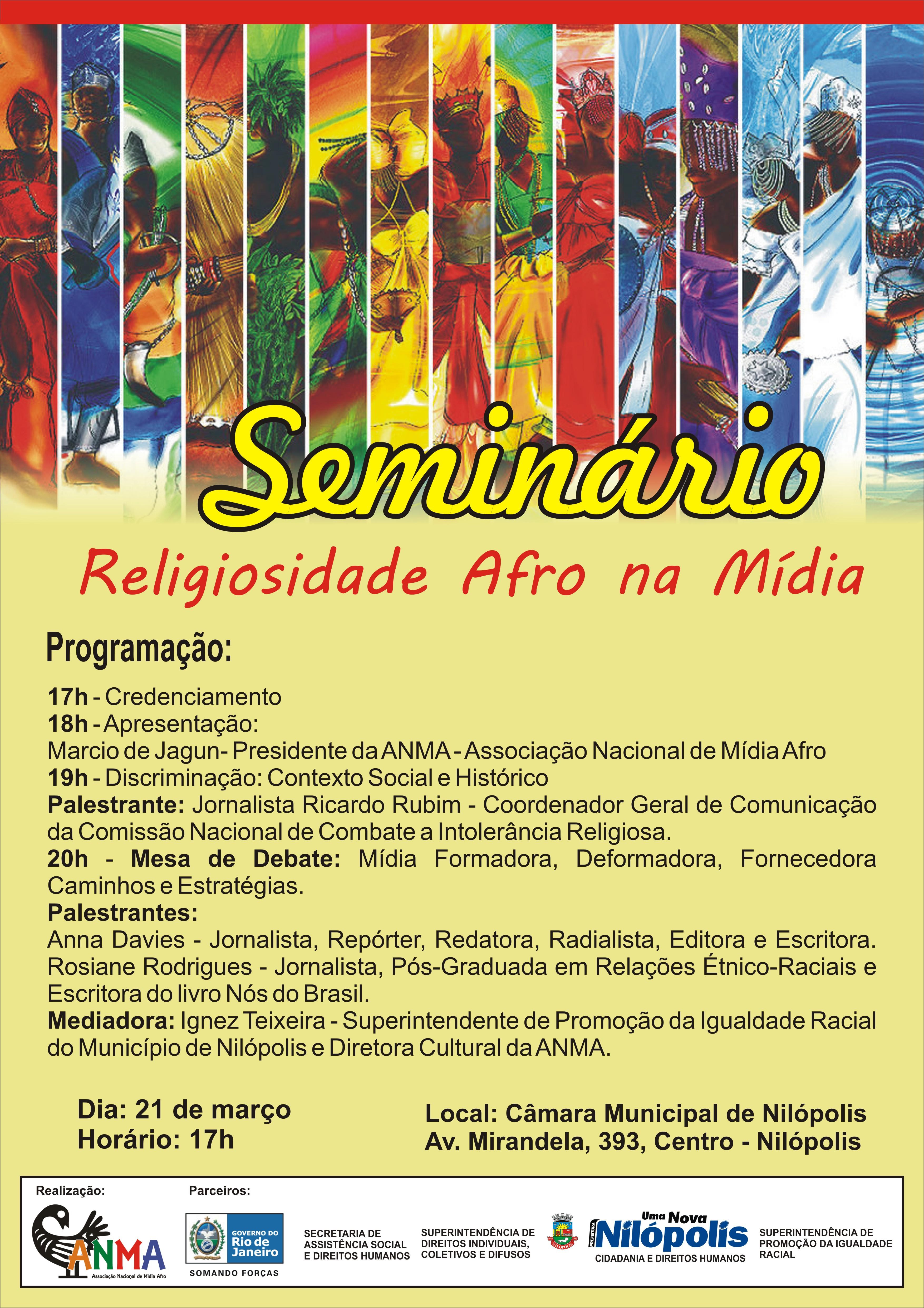 Cartaz Seminario Religiosidade Afro
