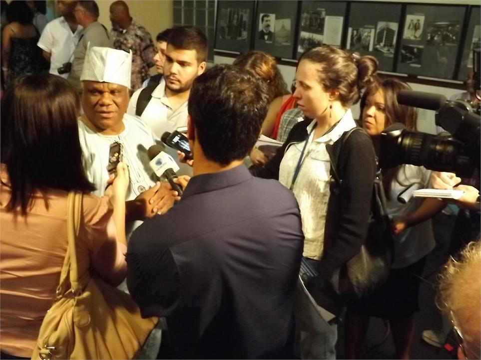 Ivanir dos Santos em entrevista aos meios de comunicação Foto: CEAP