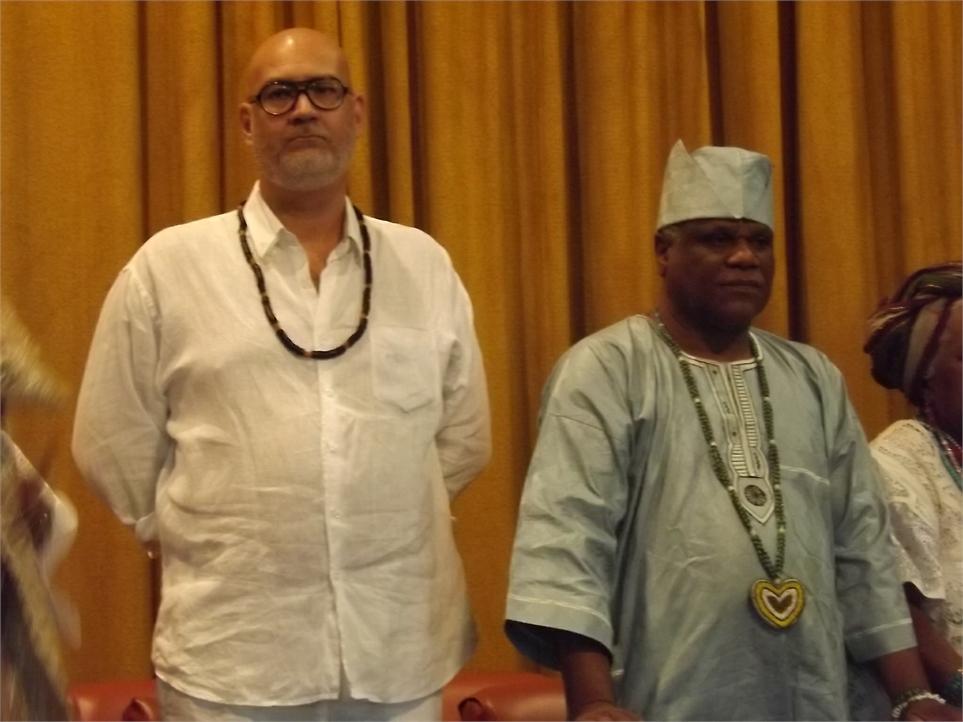 Marcio de Jagun, presidente da ANMA e Ivanir dos Santos, interlocutor da CCIR Foto: CEAP
