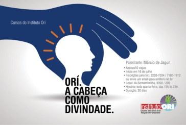 Instituto Ori irá ministrará o curso Ori – A Cabeça como divindade