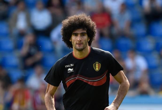 Fellaini em treino da Bélgica preparatório para a Copa do Mundo (Foto: AFP)