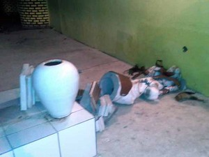 Imagens foram destruídas (Foto: Giro em Ipiaú)