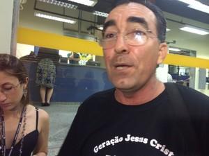 Pastor disse que foi agredido por delegado (Foto: Matheus Rodrigues/G1)