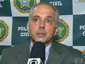 Delegado Henrique Pessoa foi preso após tiro (Foto: Reprodução / Globo)