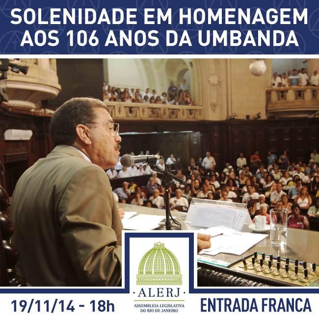 ALERJ homenageia amanhã os 106 anos de fundação da Umbanda