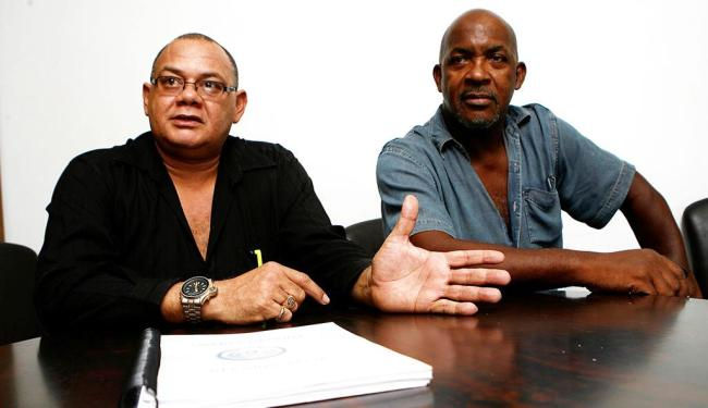 Marco Aurélio Martins | Ag. A TARDE Luiz Passos (E) e Reinaldo Guerreiro falaram sobre o inquérito em visita à Redação