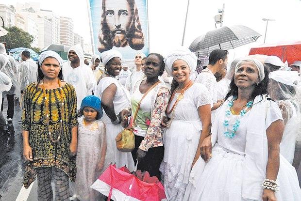 Sétima Caminhada em Defesa à Liberdade Religiosa reuniu 2 mil pessoas em setembro em Copacabana Foto:Uanderson Fernandes / Agência O Dia