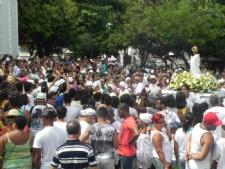Adeptos e simpatizantes do Candomblé participaram do louvor