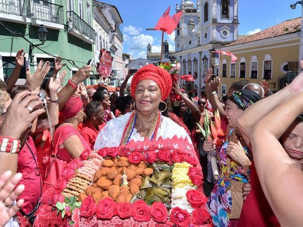Festa à Santa Bárbara, em Salvador (Foto: Max Haack/Ag. Haack)