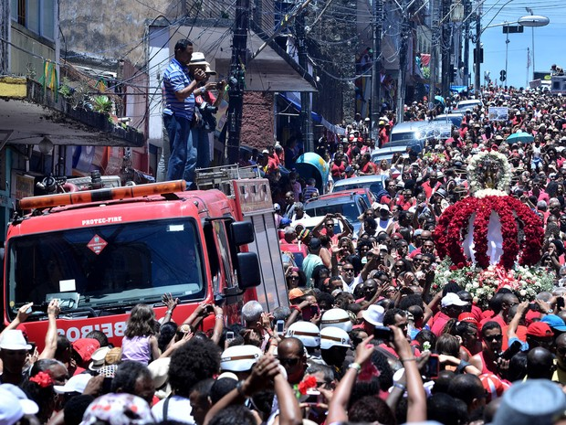 Cortejo saiu pelas ruas do Pelourinho (Foto: Max Haack/Ag. Haack)