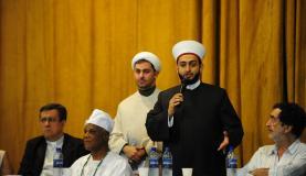 Os xeques Rodrigo Jalloul e Mohamad Al Bukai criticaram atos violentos como forma de defesa do islamismoFernando Frazão/Agência Brasil