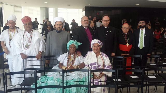 Representantes de diversas religiões compareceram à posse da presidenta Dilma Roussef. Foto: RafaB/Blog do Planalto/CC BY-NC-SA 2.0