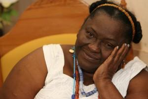 Saudação à memória de Ebomi Cidália de Iroko. Foto: Margarida Neide / Ag. A TARDE/ 7.7.2006