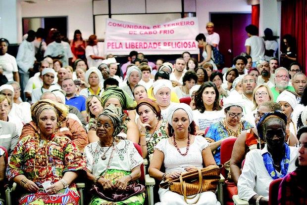 Praticantes da umbanda e do candomblé denunciaram ao MPF na segunda-feira, no Rio, as práticas dos Gladiadores do Altar, da Universal Foto:  Uanderson Fernandes / Agência O Dia