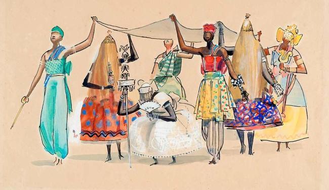 Reprodução  Mostra traz desenhos do artista sobre o descobrimento do Brasil e tradições religiosas africanas