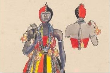Imagens retratam rituais típicos do candomblé. Foto: Carybé/Reprodução