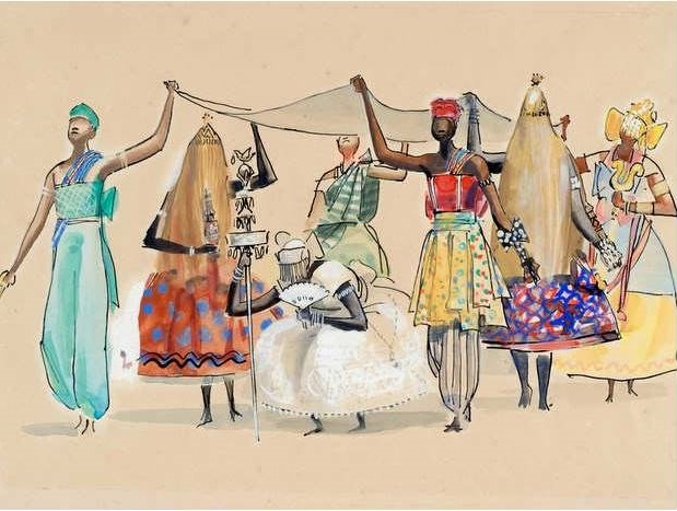 """As imagens que compõem a mostra foram reunidas, em 1981, no livro """"Iconografia dos Deuses Africanos no Candomblé da Bahia"""". Foto: Carybé/Reprodução"""