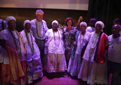 Janine Moraes O ministro participou de uma rodad e conversa com os produtores culturais locais