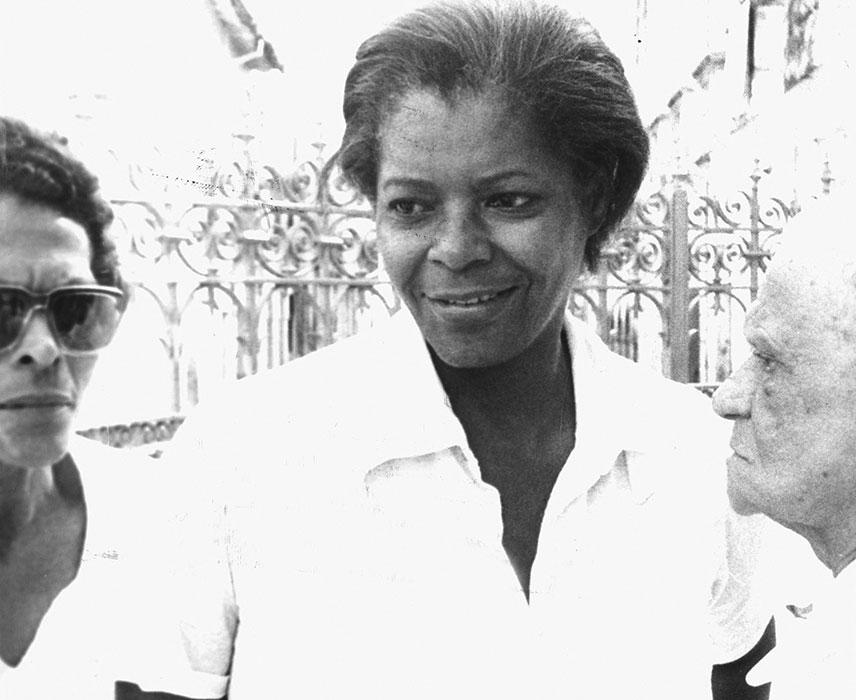 Pouco antes do jogo que a indicaria como ialorixá (Foto:Aristides Baptista | Ag. A TARDE | 22.3.1976)