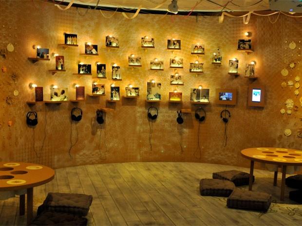 Espaço da exposição sobre Dona Ivone Lara; Tiganá fez a curadoria (Foto: Christina Rufatto)