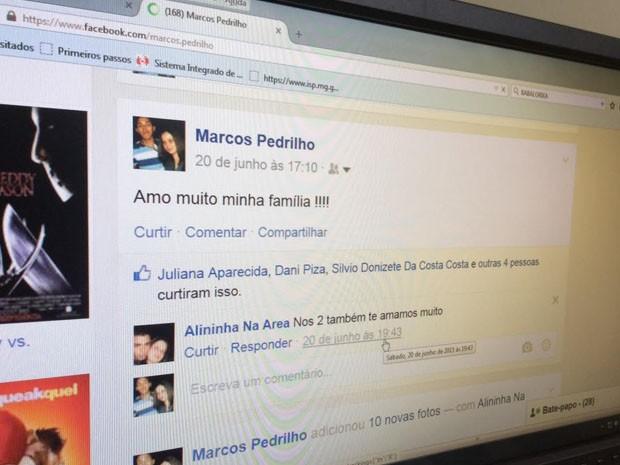 Marcos usou rede social de mulher, já morta, para postar mensagens (Foto: Jéssica Balbino/ G1)