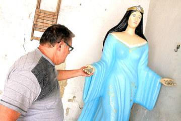 Estátua de Iemanjá continua guardada em São Vicente