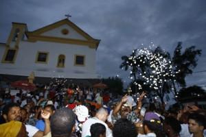 Chegada da Caminhada Azoany ao Santuário de São Lázaro e São Roque. Foto: Marco Aurélio Martins | Ag. A TARDE
