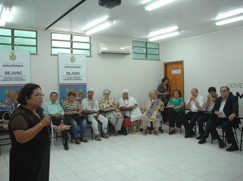Secretária de Estado de Justiça, Direitos Humanos e Cidadania (Sejusc), Graça Prola, promoveu um dos mais ecumênicos encontros registrados em Manaus, com o objetivo de fortalecer a luta pela paz e pela tolerância religiosa(Antonio Menezes )