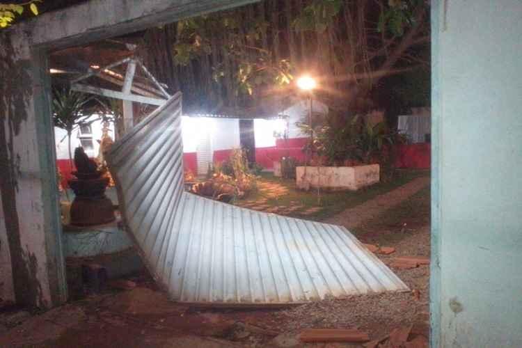 Portão do terreiro de Águas Lindas foi derrubado pelos criminosos