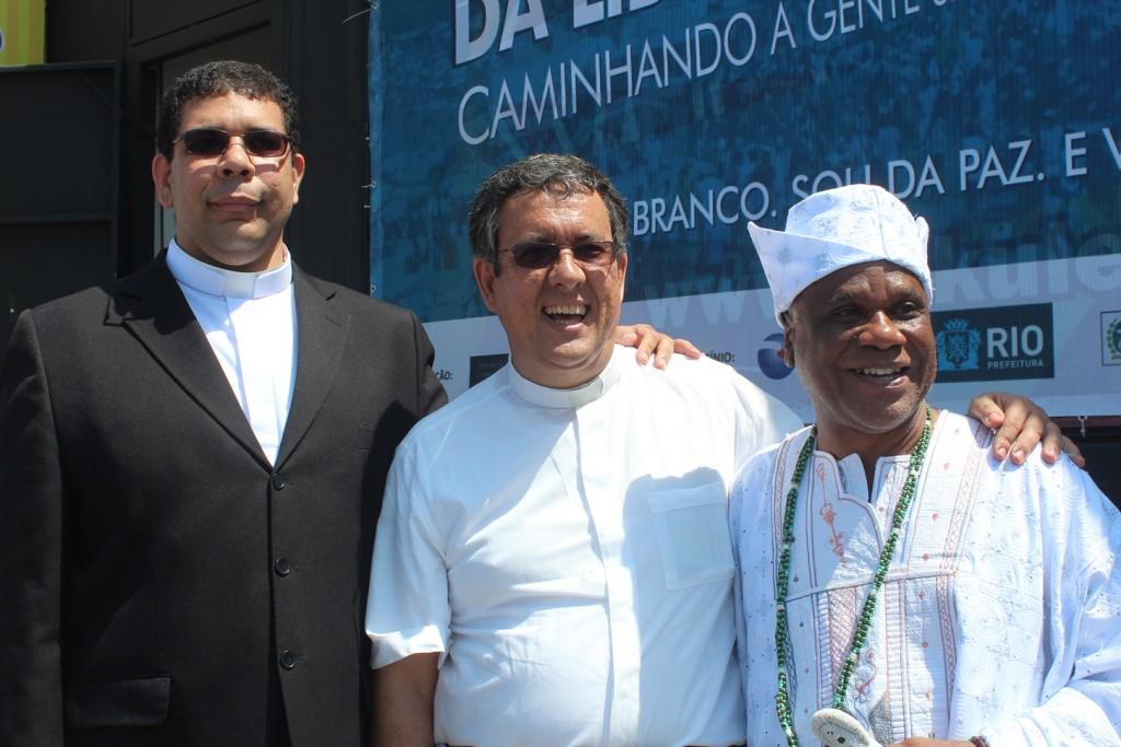 Padre Fabio,Diacono Nelson , Ivanir dos Santos