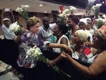 """Dilma recebe """"bênçãos de Exu"""" durante visita ao Piauí"""