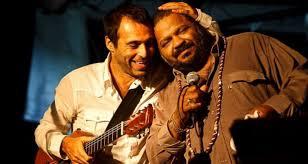 Arlindo Cruz e Rogê. Crédito Foto: Daniel Marenco.