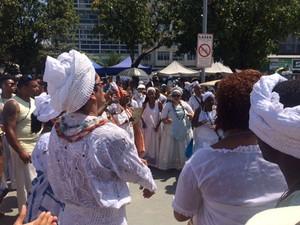 Marcha contra a intolerência religiosa (Foto: Alba Valéria Mendonça/G1)