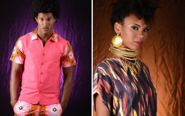 A Katuka usou tecidos africanos para sua linha. Já a coleção de Vinícius Cerqueira tem roupas e acessórios (Foto: Alex Dantas/Divulgação)