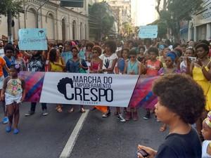Marcha foi realizada no centro da capital baiana (Foto: Alan Tiago/ G1 Bahia)
