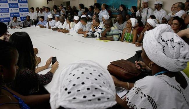 Joa Souza l Ag. A TARDE Representantes de espaços religiosos prestigiaram cerimônia na prefeitura nesta quinta-feira, 21
