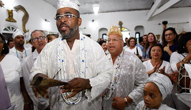 Joá Souza / Ag. A TARDE Cerimônia lotou espaço, que preserva ritos originais da linhagem e o dialeto africano ewe-fon