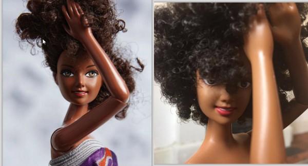 Modelo caribenha lança linha de bonecas negras e com cabelo afro