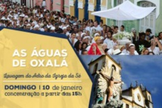"""Cerimônia religiosa """"As Águas de Oxalá"""" pede paz e tolerância em 2016"""
