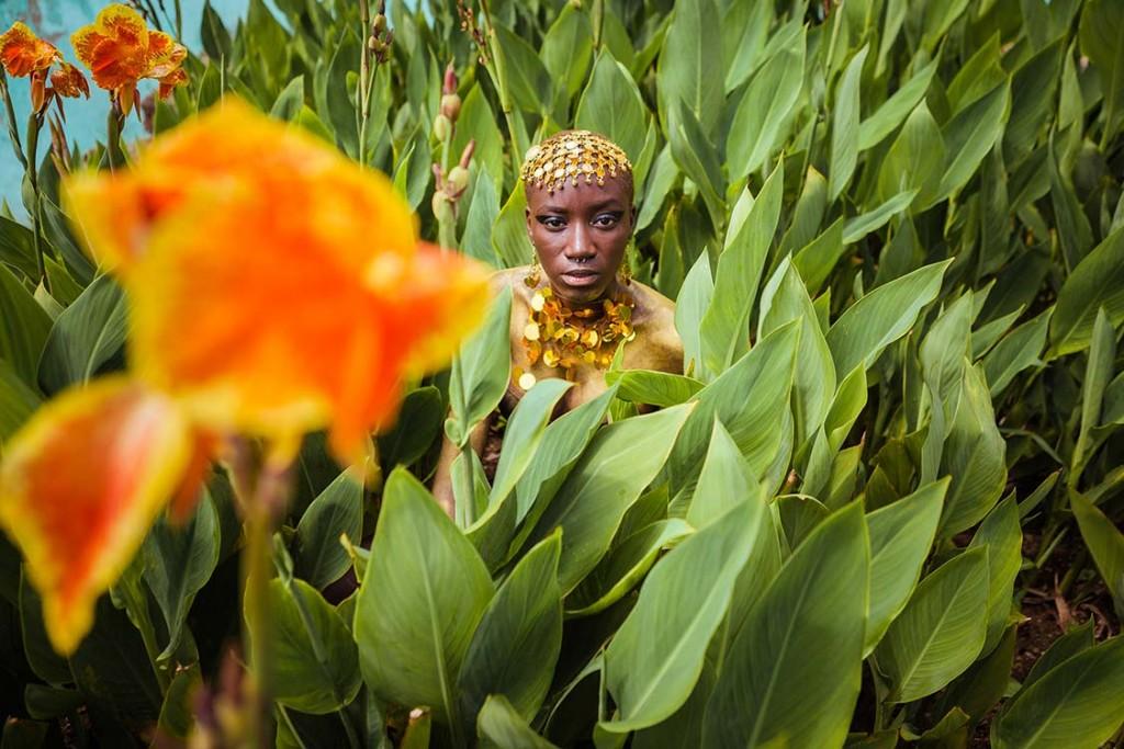 Luma Nascimento dá vida para Oxum (Foto: Antonello Veneri | Divulgação)