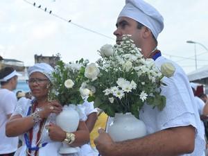 Festa do Bonfim reúne adeptos do candomblé e católicos em Salvador (Foto: Max Haack/Ag Haack)