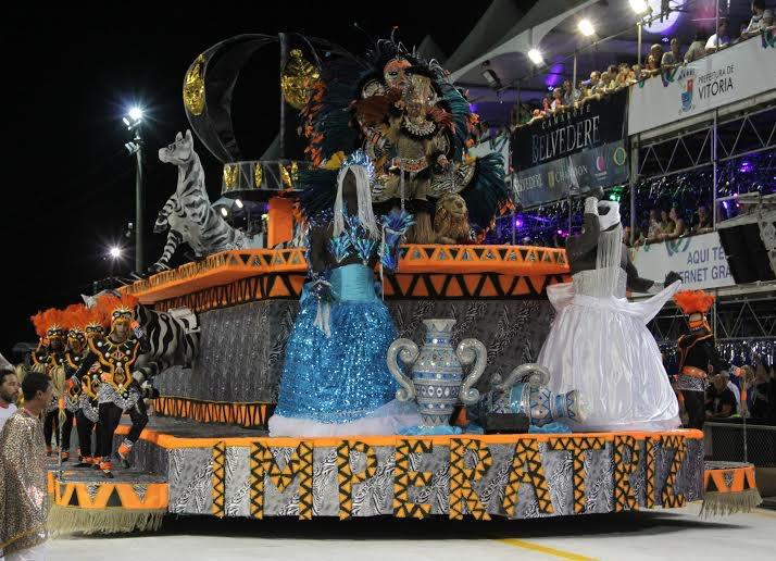 Imperatriz do Forte fez uma apresentação alegre e com os integrantes com o samba na ponta da línguaFoto: Deivid Dantas